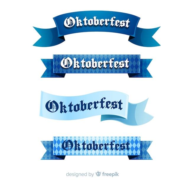 Oktoberfest-bänder eingestellt Kostenlosen Vektoren