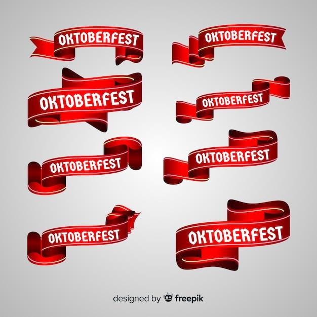 Oktoberfest bänder sammlung Kostenlosen Vektoren