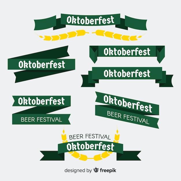 Oktoberfest band oder girlande sammlung Kostenlosen Vektoren