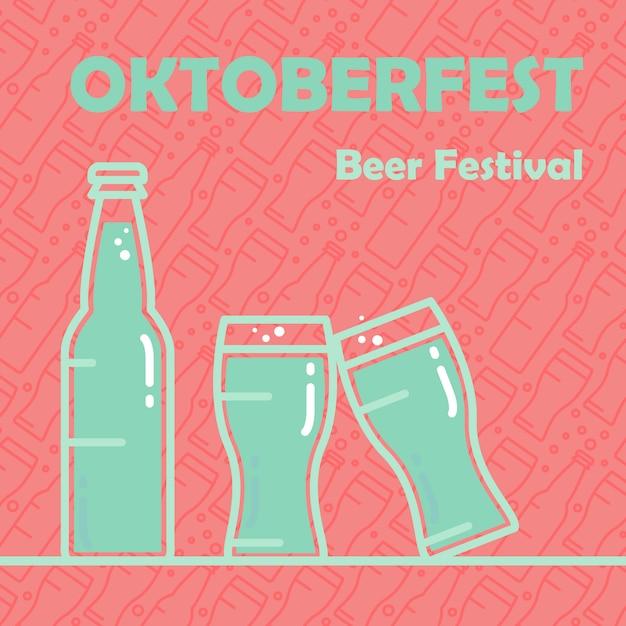 Oktoberfest bier banner Premium Vektoren