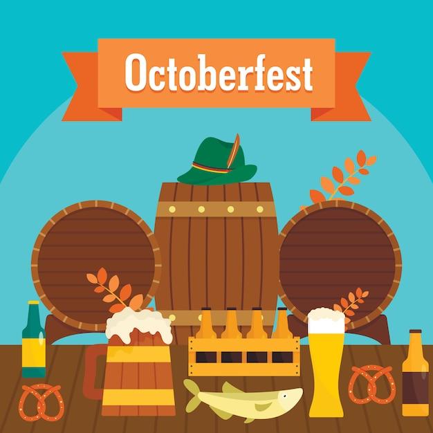 Oktoberfest bier hintergrund Premium Vektoren