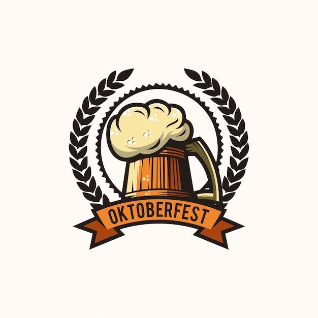Oktoberfest-bier-logo Premium Vektoren