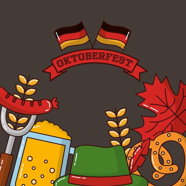 Oktoberfest deutschland feier Kostenlosen Vektoren