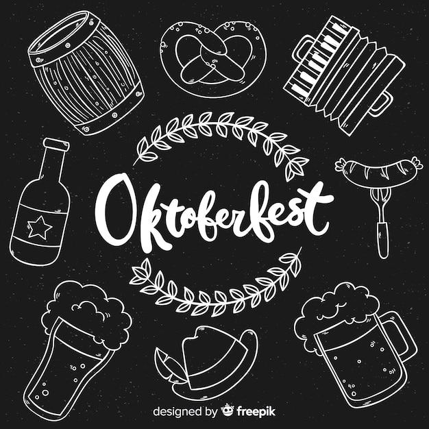 Oktoberfest-elementhintergrund-tafelart Kostenlosen Vektoren