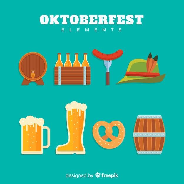 Oktoberfest-elementsammlung Kostenlosen Vektoren