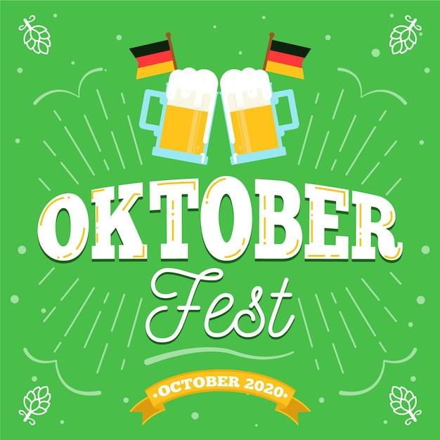 Oktoberfest festival schriftzug Kostenlosen Vektoren