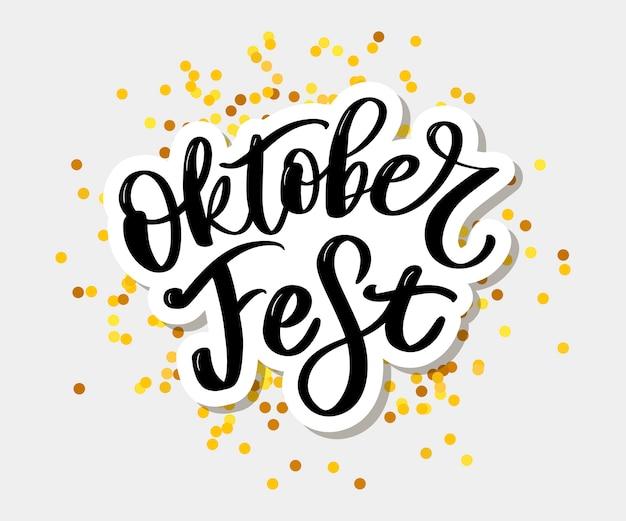Oktoberfest handgeschriebene schrift. Premium Vektoren