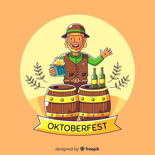 Oktoberfest hintergrund Kostenlosen Vektoren