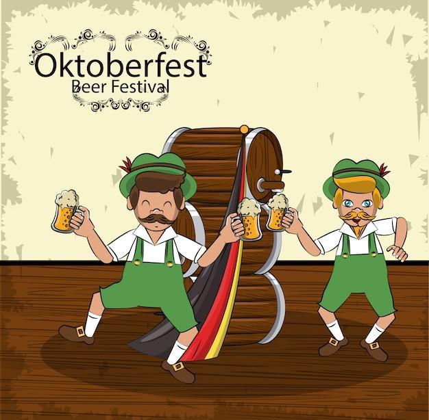 Oktoberfest-konzept Premium Vektoren
