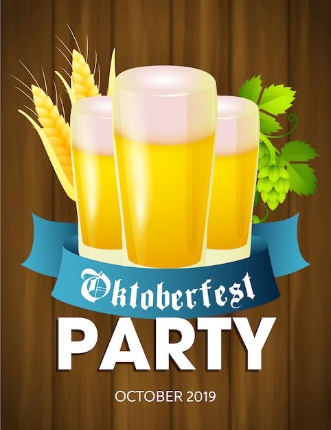Oktoberfest-party-flyer Kostenlosen Vektoren
