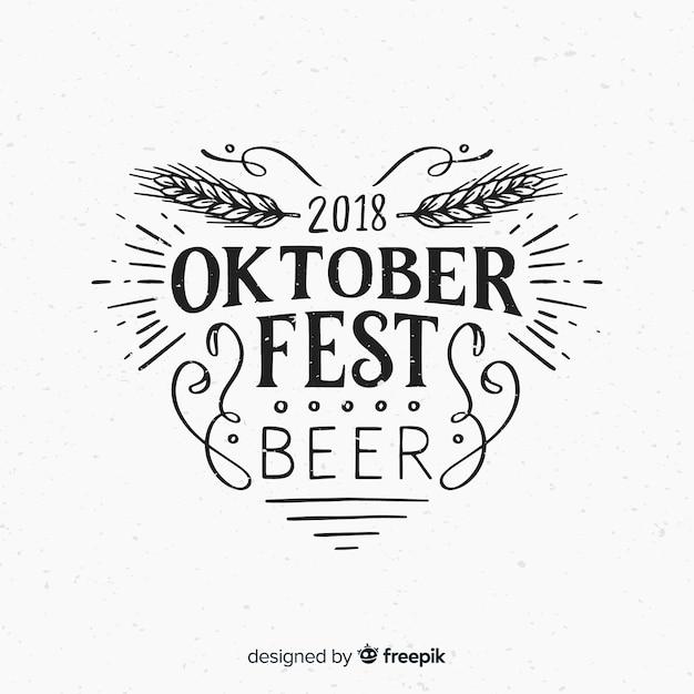 Oktoberfest schriftzug hintergrund Kostenlosen Vektoren