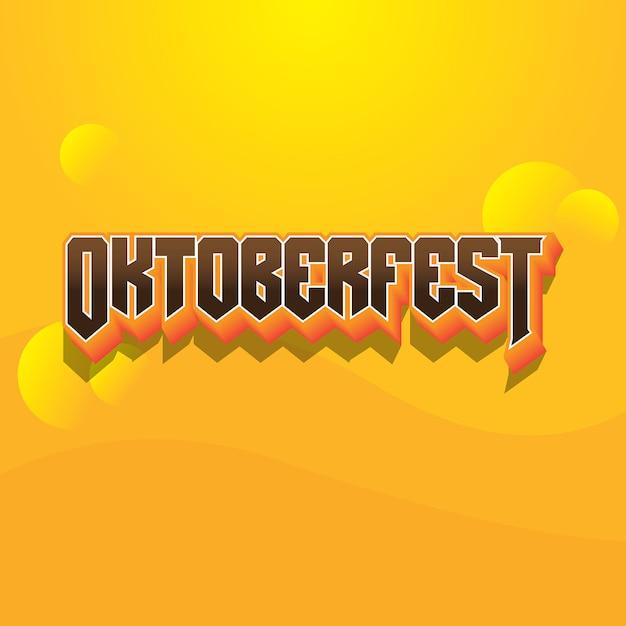 Oktoberfest-textlogo-gusseffekt Premium Vektoren