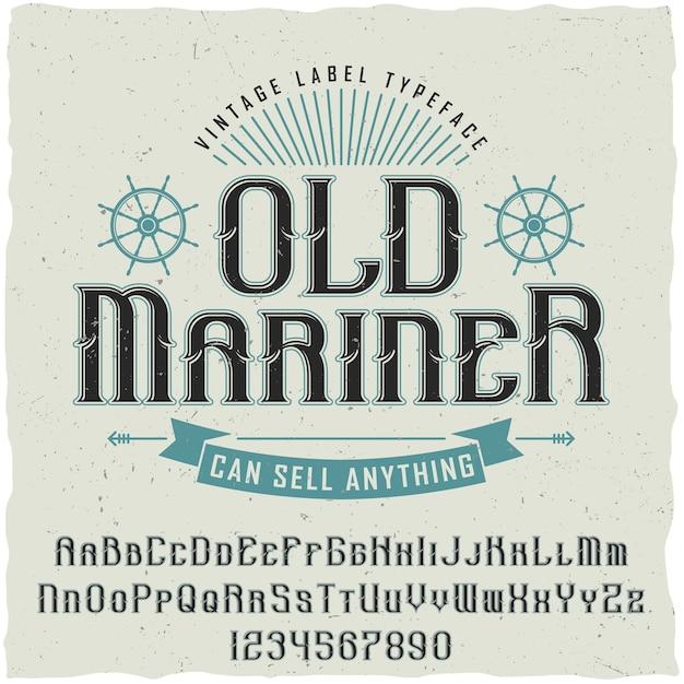 Old mariner vintage poster Kostenlosen Vektoren