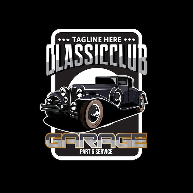 Oldtimer-garage Premium Vektoren