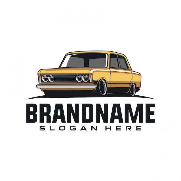 Oldtimer-logo-illustration Premium Vektoren