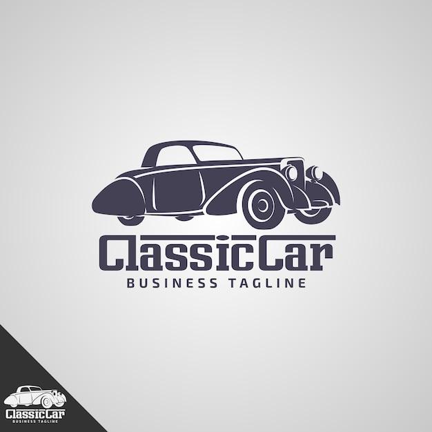 Oldtimer-logo-vorlage Premium Vektoren