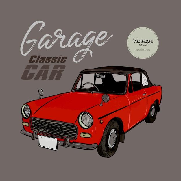 Oldtimer-vintage-stil Premium Vektoren