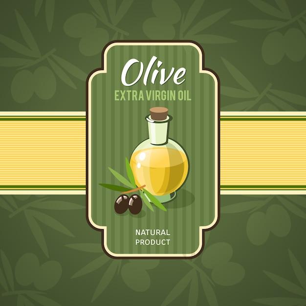 Olivenöl-abzeichen Kostenlosen Vektoren