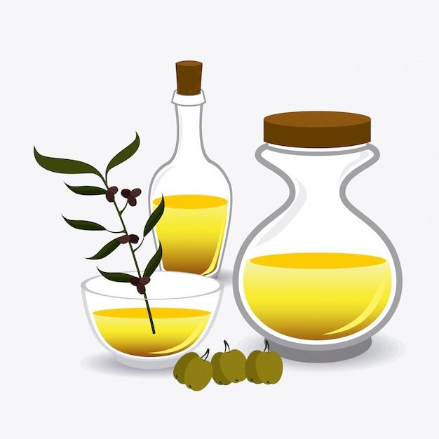 Olivenöl-design. Premium Vektoren