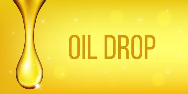Oliventreibstoffflüssigkeit, öltropfen, funkelndes kollagen. Premium Vektoren