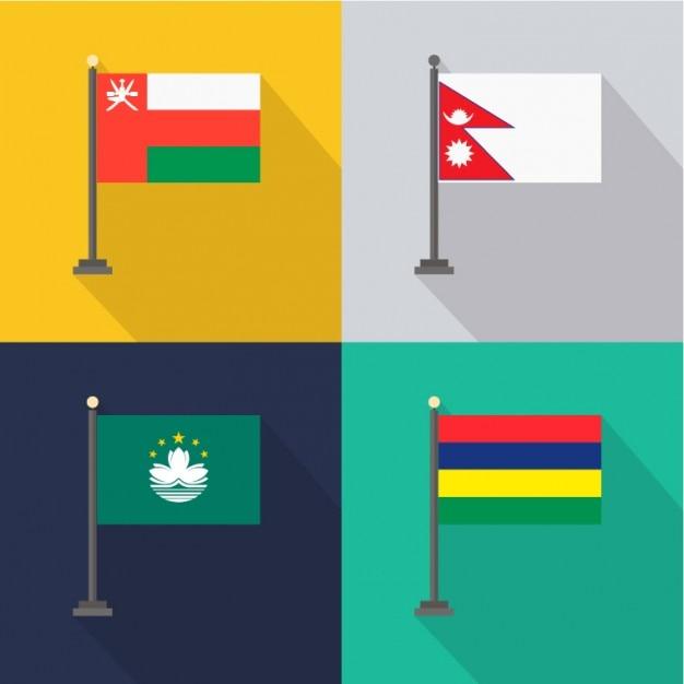 Oman Nepal Macao Mauricio Kostenlose Vektoren