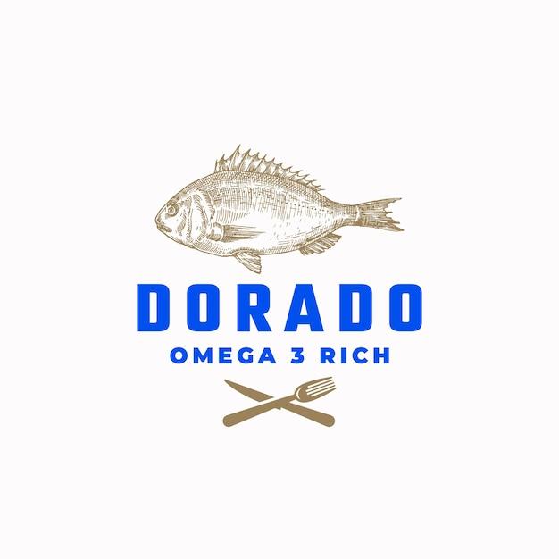 Omega 3 rich dorado fish abstraktes zeichen Kostenlosen Vektoren