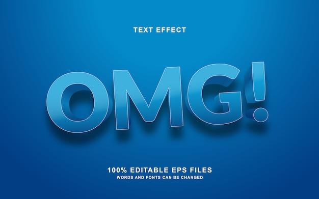 Omg text style effekt Premium Vektoren