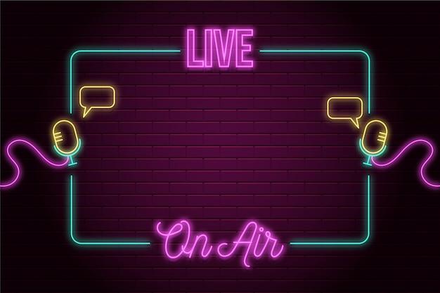 On air neon frame vorlage Premium Vektoren