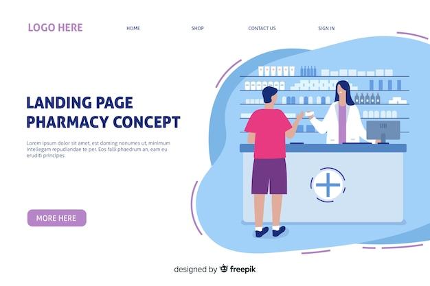 Online-apotheke landingpage-vorlage Kostenlosen Vektoren