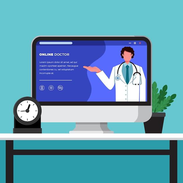 Online-arztkonzept Kostenlosen Vektoren