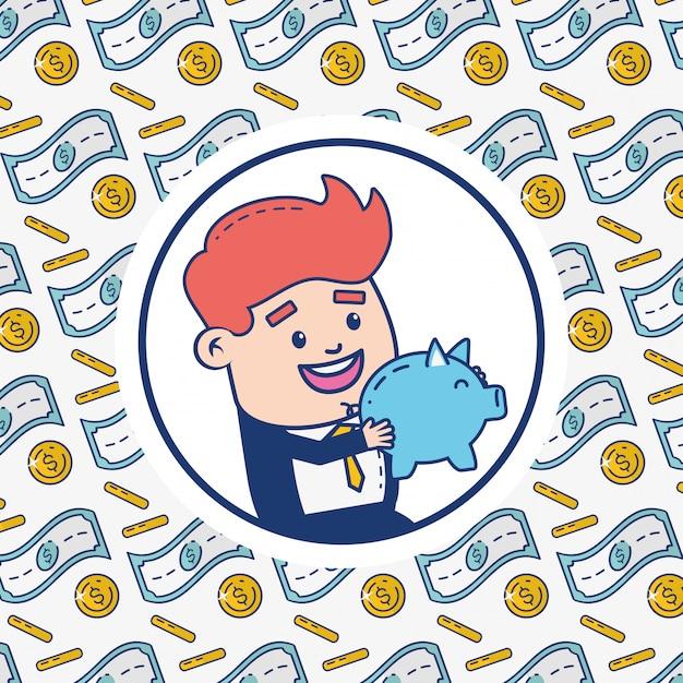 Online-banking-person Kostenlosen Vektoren