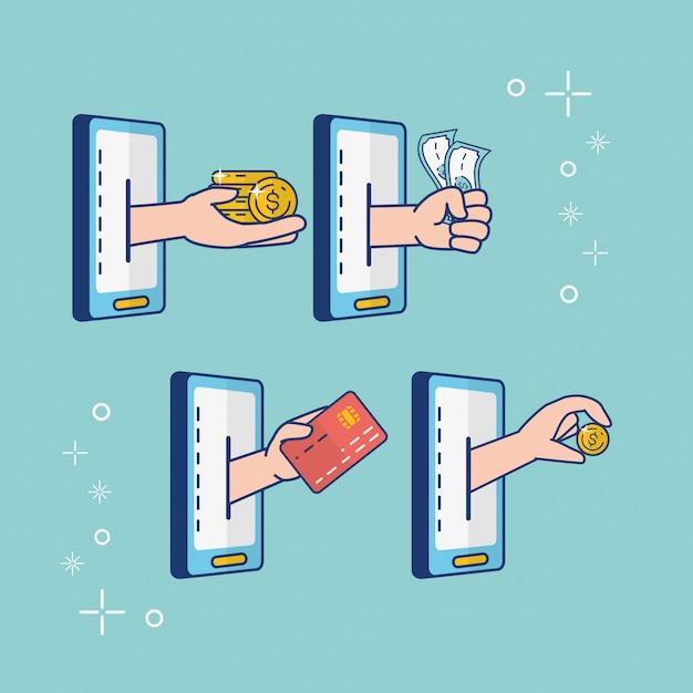 Online-banking Kostenlosen Vektoren