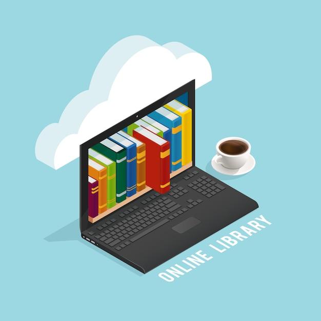 Online-bibliothek isometrisches design Kostenlosen Vektoren