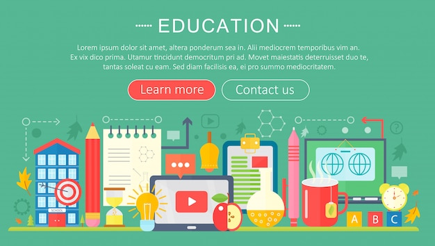 Online-bildung infografiken vorlage design Premium Vektoren