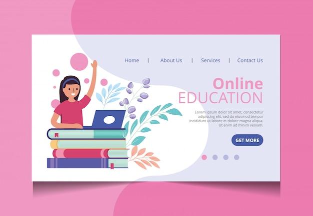 Online-bildung landing page vektor Premium Vektoren