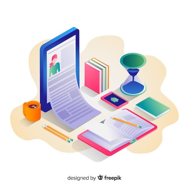 Online-bildung Kostenlosen Vektoren
