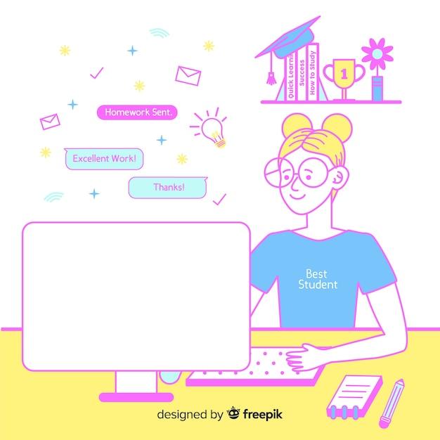 Online-bildungskonzept Kostenlosen Vektoren