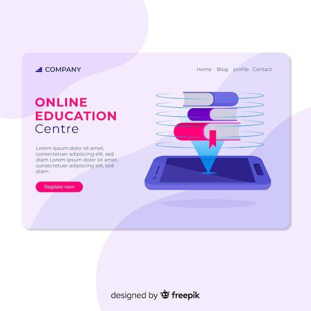 Online-bildungszielseite Kostenlosen Vektoren