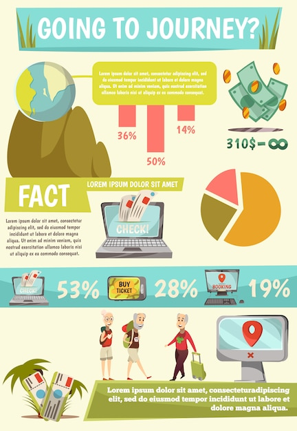 Online-buchungsservice infografiken Kostenlosen Vektoren