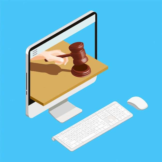 Online-computer versteigern Kostenlosen Vektoren