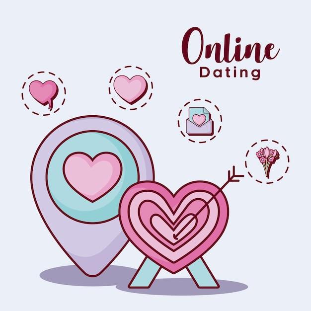 Online-dating-design Premium Vektoren