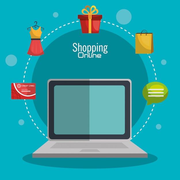 Online einkaufen Kostenlosen Vektoren