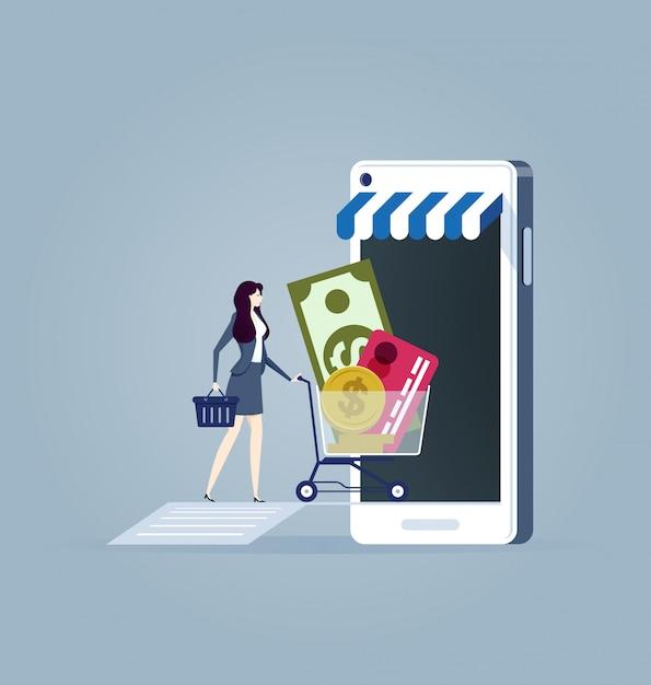 Online einkaufen Premium Vektoren