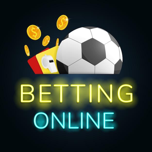 Online-fußballwetten Premium Vektoren