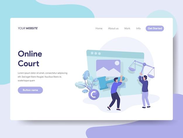 Online-gericht für web-seite Premium Vektoren