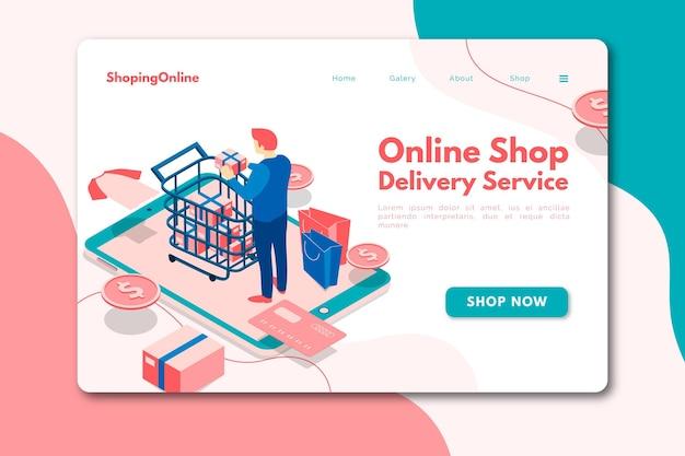 Online-homepage im isometrischen stil Kostenlosen Vektoren