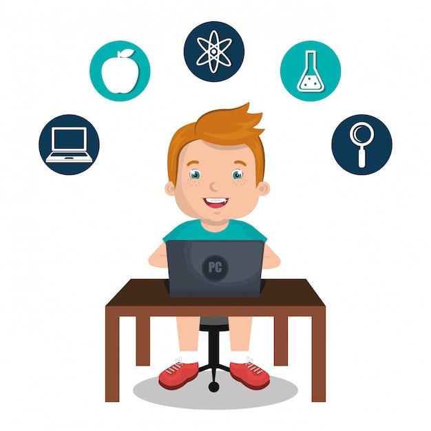 Online-kinder Kostenlosen Vektoren