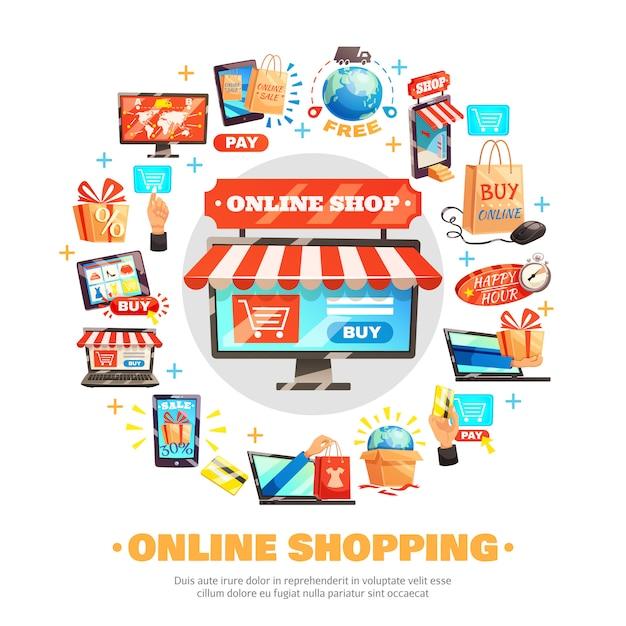 Online-komposition online kaufen Kostenlosen Vektoren