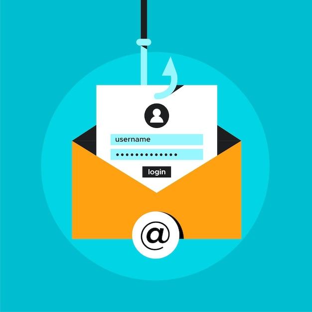Online-konten hacken und stehlen Kostenlosen Vektoren