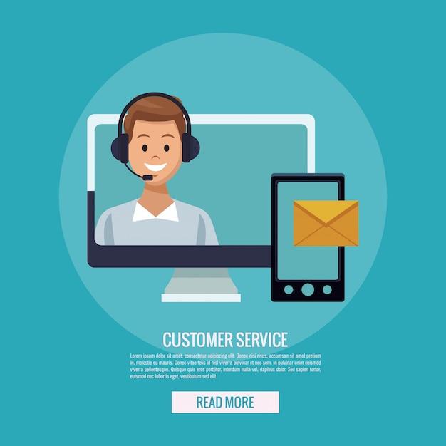 Online-kundenservice Premium Vektoren